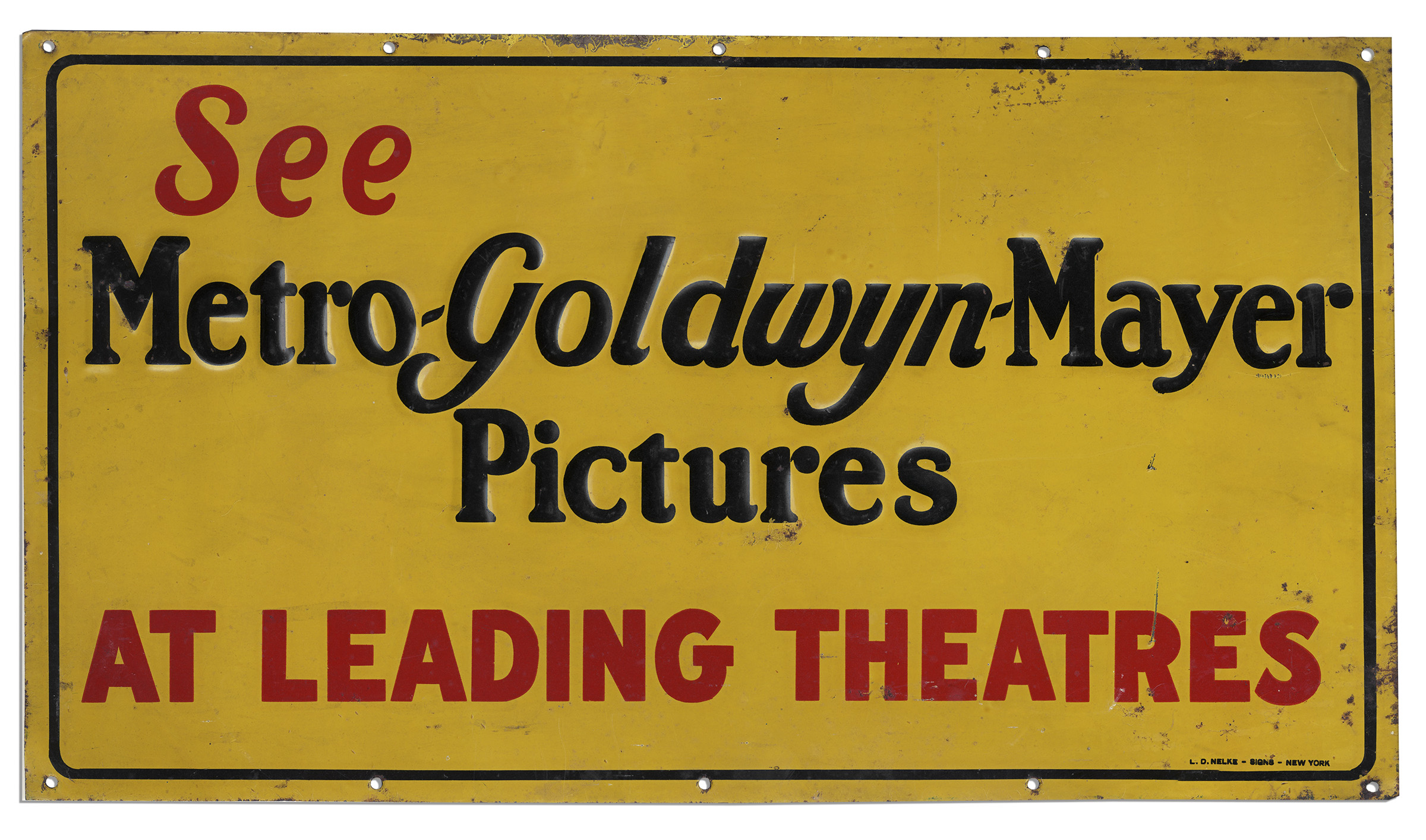 Vintage Hollywood Sign For Metro Goldwyn Mayer Pictures