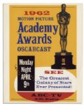 Original 1962 Academy Awards Poster From the 34th Annual Ceremony -- Westside Story Took Home Best Picture That Year