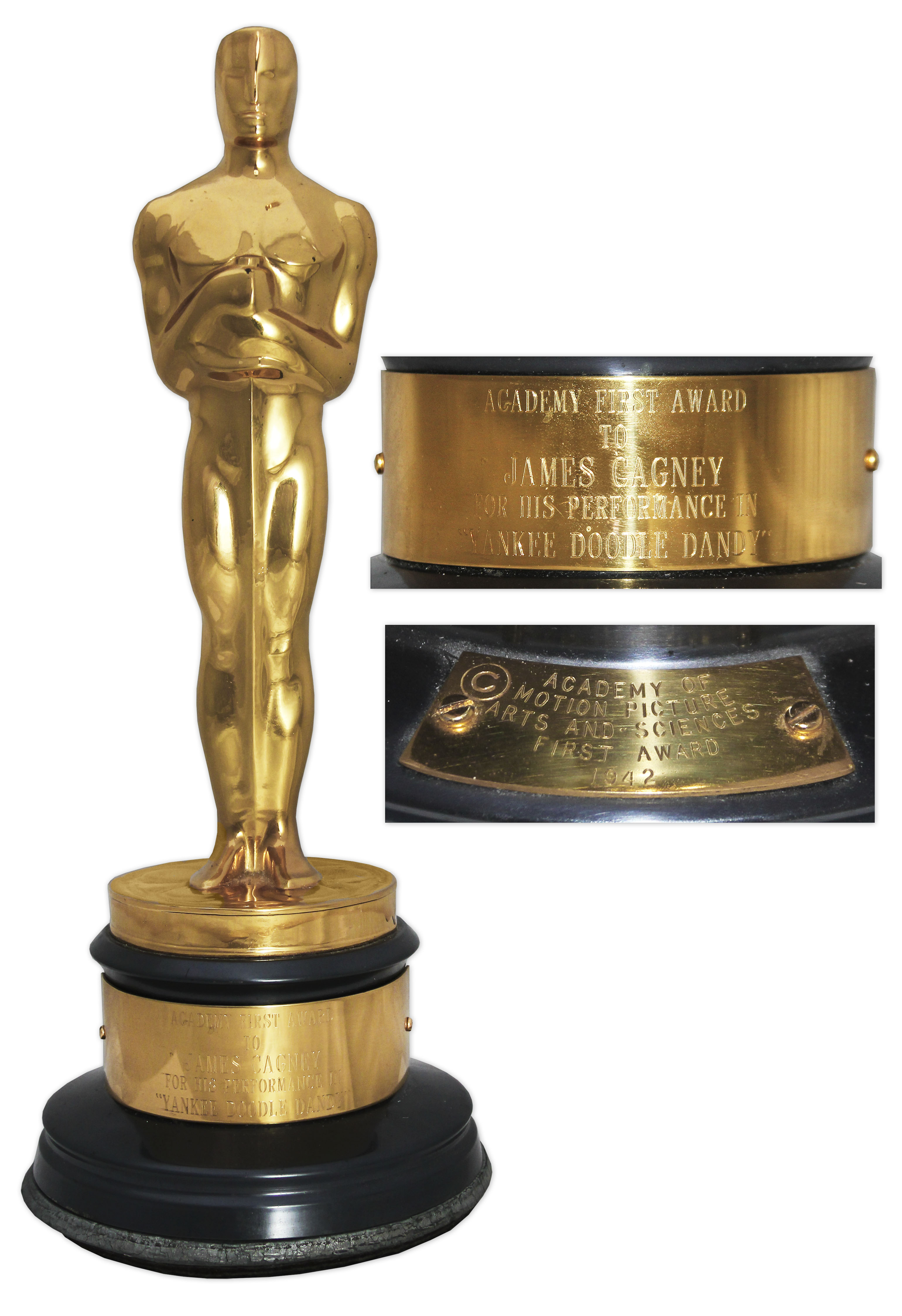 Lot Detail Academy Award For Best Actor Won By James Cagney In