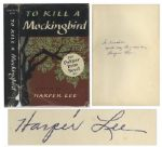 Harper Lee Signed 1960 First Edition, Eleventh Printing of To Kill a Mockingbird