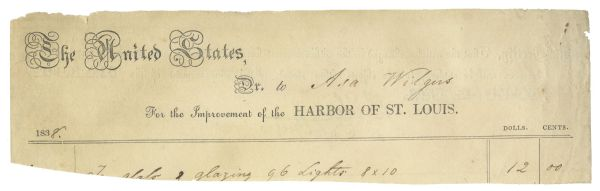 Robert E. Lee Document Signed -- Signed While Lee Was Captain of the Army Corps of Engineers in 1838