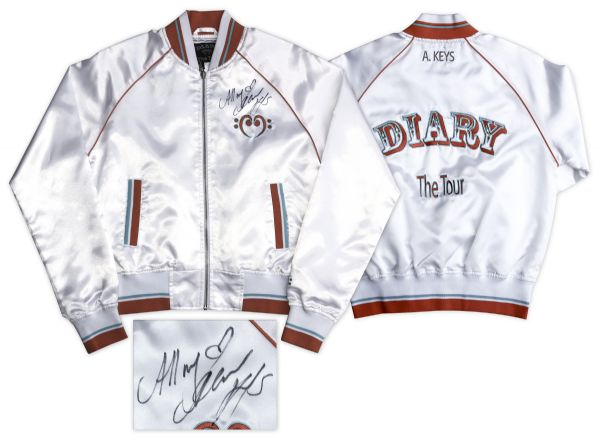 Alicia Keys Signed Tour Jacket From Her ''Diary'' Tour -- With a COA From the Singer