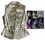 Alicia Keys Gold Crocodile-Style Vest Worn During Her As I Am Tour -- With a COA From Keys