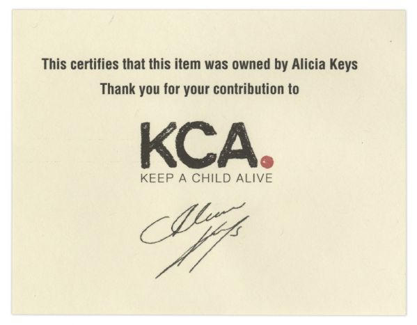 Alicia Keys Gold Crocodile-Style Vest Worn During Her ''As I Am'' Tour -- With a COA From Keys