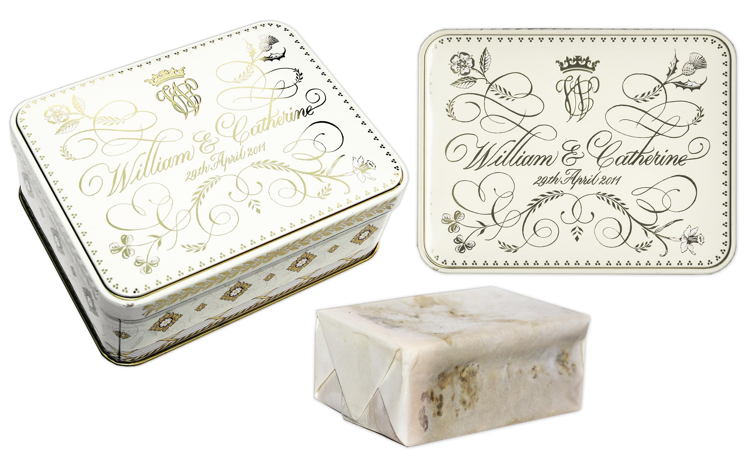 Attractive Prince William U0026 Princess Kate Wedding Cake Slice    Housed In Beautiful  Commemorative Tin ...