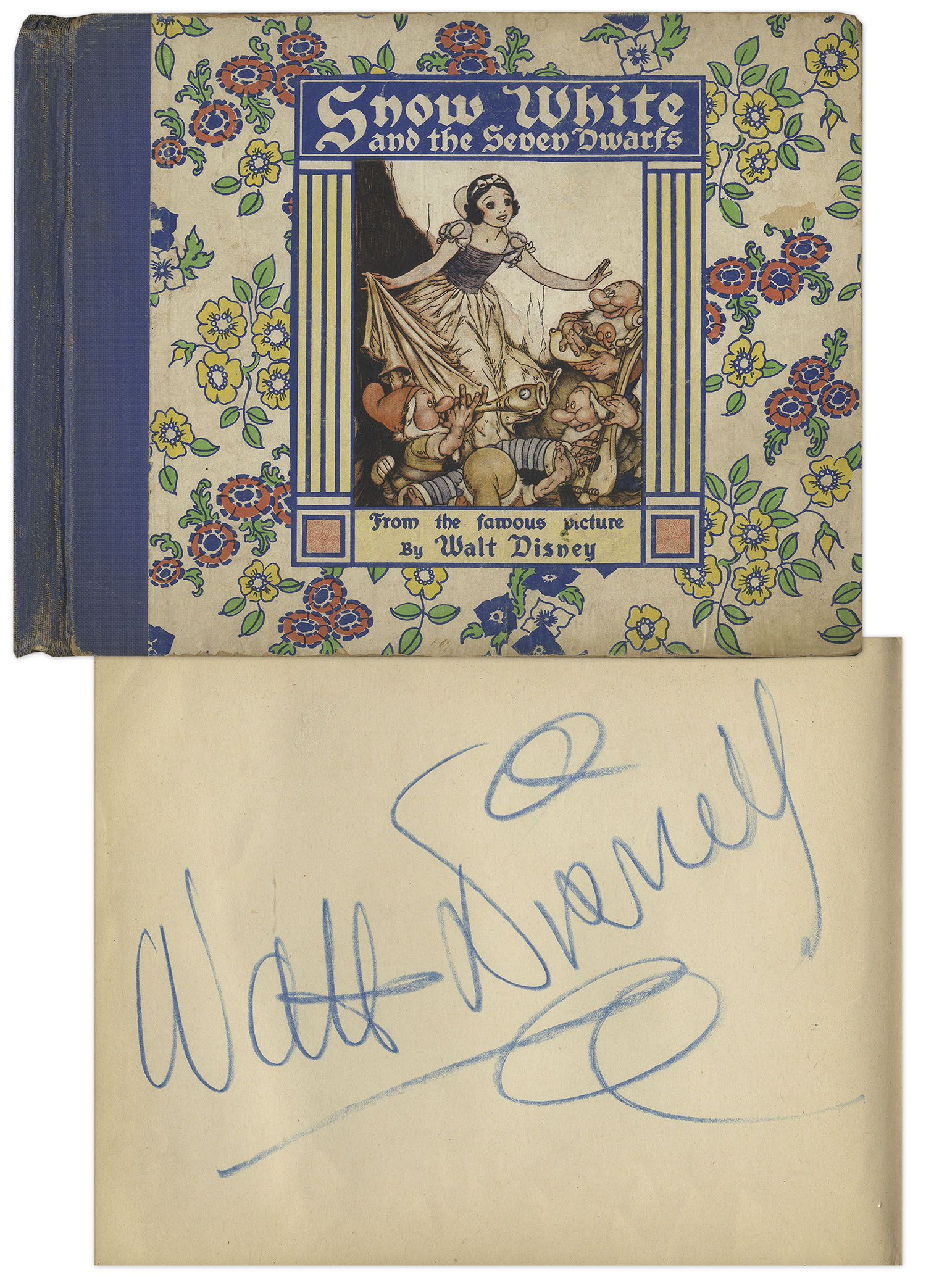 Walt Disney Autograph Walt Disney Signed Copy of ''Snow White and the Seven Dwarfs'' -- The Story That Became Disney's First Animated Blockbuster