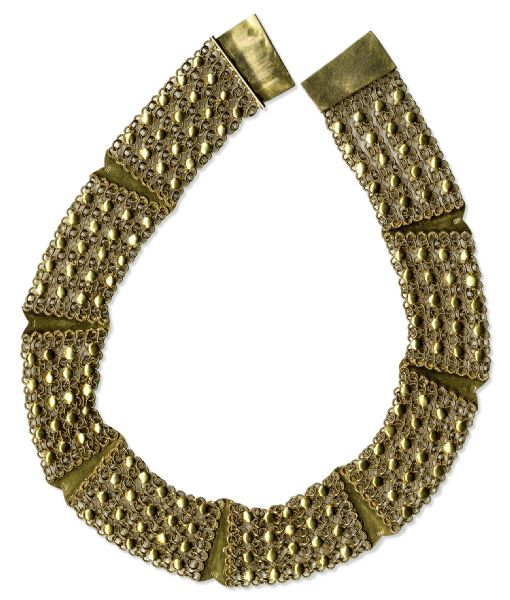 Cecil B. Demille Necklace Gifted to His Daughter, Actress Katherine Demille Quinn -- 88 Grams of 18K Gold -- With a COA From Cecil B. Demille's Granddaughter