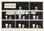 Charles Schulz Hand-Drawn Peanuts Sunday Strip Featuring Charlie Brown & Linus -- 1958