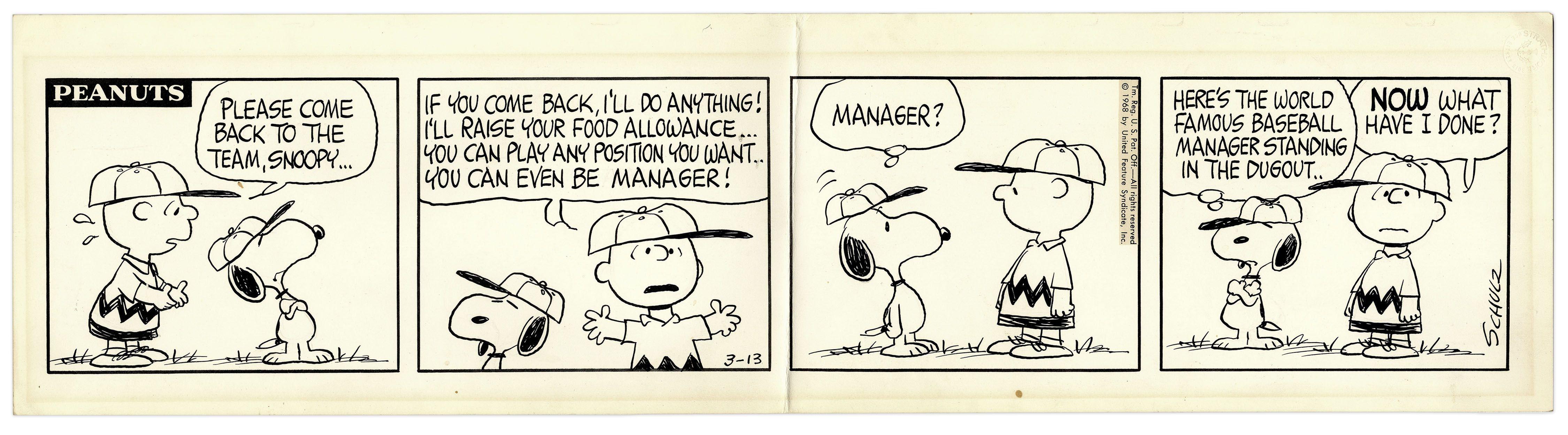 peanuts final strip
