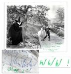 10 x 8 Signed The Wizard of Oz Photo of Ray Bolger and Margaret Hamilton -- ...Ill fix them!...WWW!