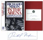 Richard Nixon Signs a First Edition of His Book In The Arena