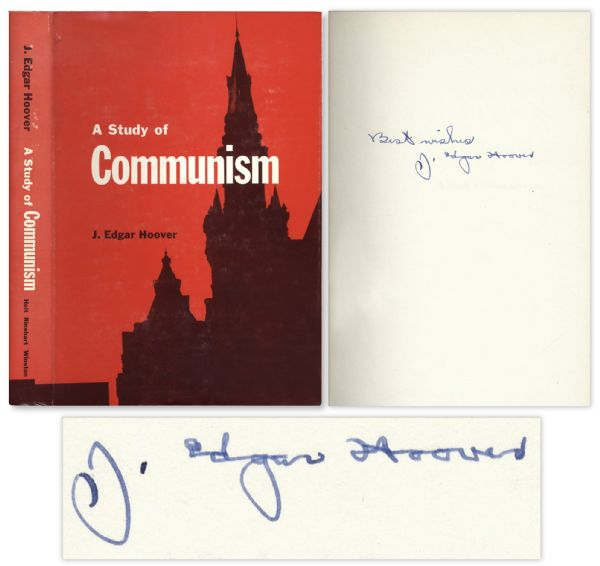 J. Edgar Hoover Signed ''A Study of Communism''