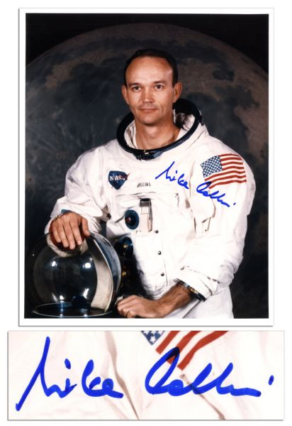 Apollo 11 Astronaut Michael Collins 8'' x 10'' Signed Photo