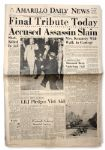 25 November 1963 Edition of the Amarillo Daily News Newspaper -- Final Tribute Today / Accused Assassin Slain