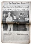 JFK Assassination Newspaper -- 25 November 1963 Edition of The Dallas Times-Herald Covering The Shooting of Lee Harvey Oswald