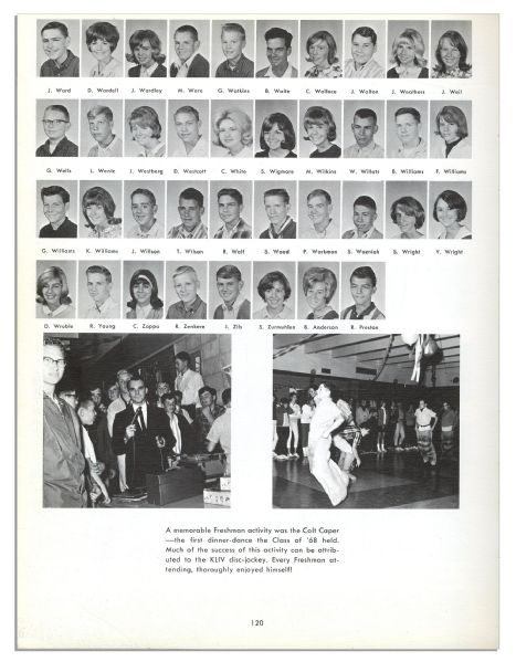 Apple Co-Founder Steve Wozniak 1965 High School Yearbook
