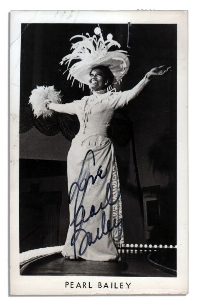 Broadway Star Pearl Bailey Signed Photo