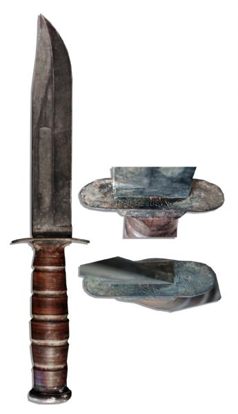 Iwo Jima Memorabilia Rene Gagnon's Personally Owned Marines-Issued Knife -- Likely Used at Iwo Jima -- From Rene Gagnon's Estate