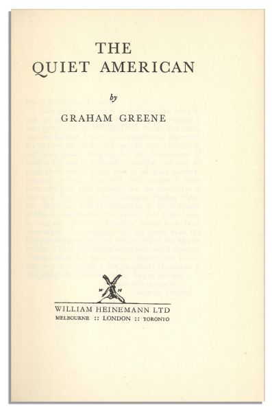 an interpretation of graham greenes the quiet The quiet american is written in graham greene's signature style: descriptive but to the point, conversational but tightly structured he uses long sentences, but breaks them up with hyphens, colon.
