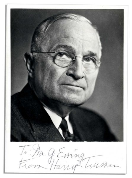 President Harry Truman Signed Photo