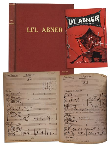 Bound Book of Handwritten Music From the 1956 Production of ''Li'l Abner'' Based on the Famous Comic Strip -- From the Personal Collection of Al Capp