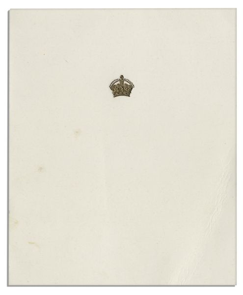 Queen Mother Elizabeth Christmas Card Signed From 1961