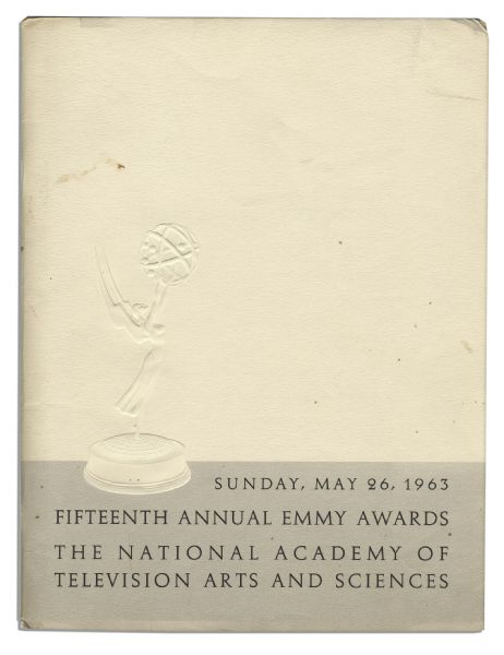 Program From the 1963 Emmy Awards Ceremony
