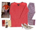 Jenna Elfman Screen-Worn Cashmere Sweater, Pants & Shoes From 1600 Penn -- With Wardrobe Tag & 20th Century Fox COA