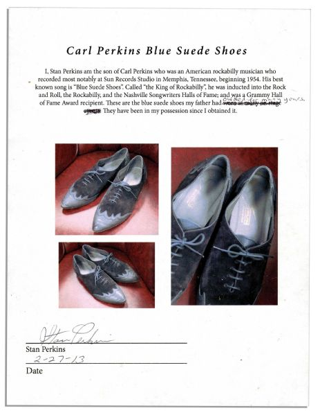 ''Blue Suede Shoes'' Songwriter Carl Perkins' Own Pair of Blue Suede Shoes