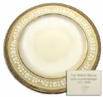 Clinton White House Used China -- Soup Plate by Lenox From the Year 2000 -- Fine