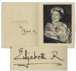 Royal Christmas Card Signed by The Queen Mother in 1959