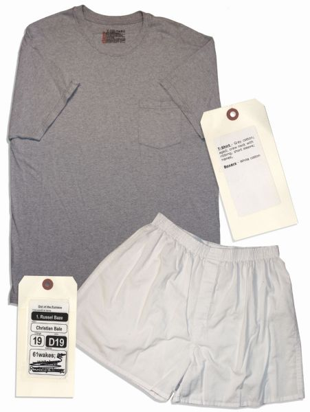 Christian Bale Screen-Worn Hero T-Shirt & Shorts From ''Out of the Furnace''