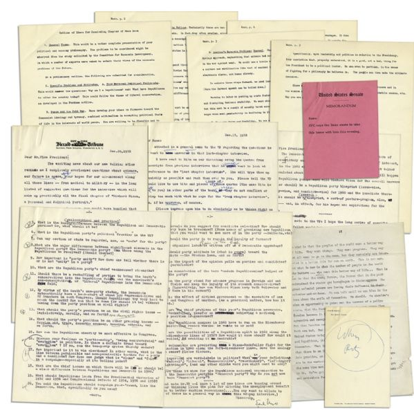 Richard Nixon Archive of Typed Letters Signed By His Biographer, Earl Mazo -- In Preparation for His 1959 Book, ''Richard Nixon: A Political and Personal Portrait''