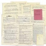 Richard Nixon Archive of Typed Letters Signed By His Biographer, Earl Mazo -- In Preparation for His 1959 Book, Richard Nixon: A Political and Personal Portrait