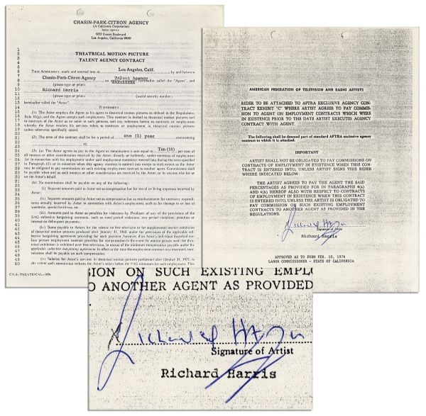 Richard Harris Contract Signed
