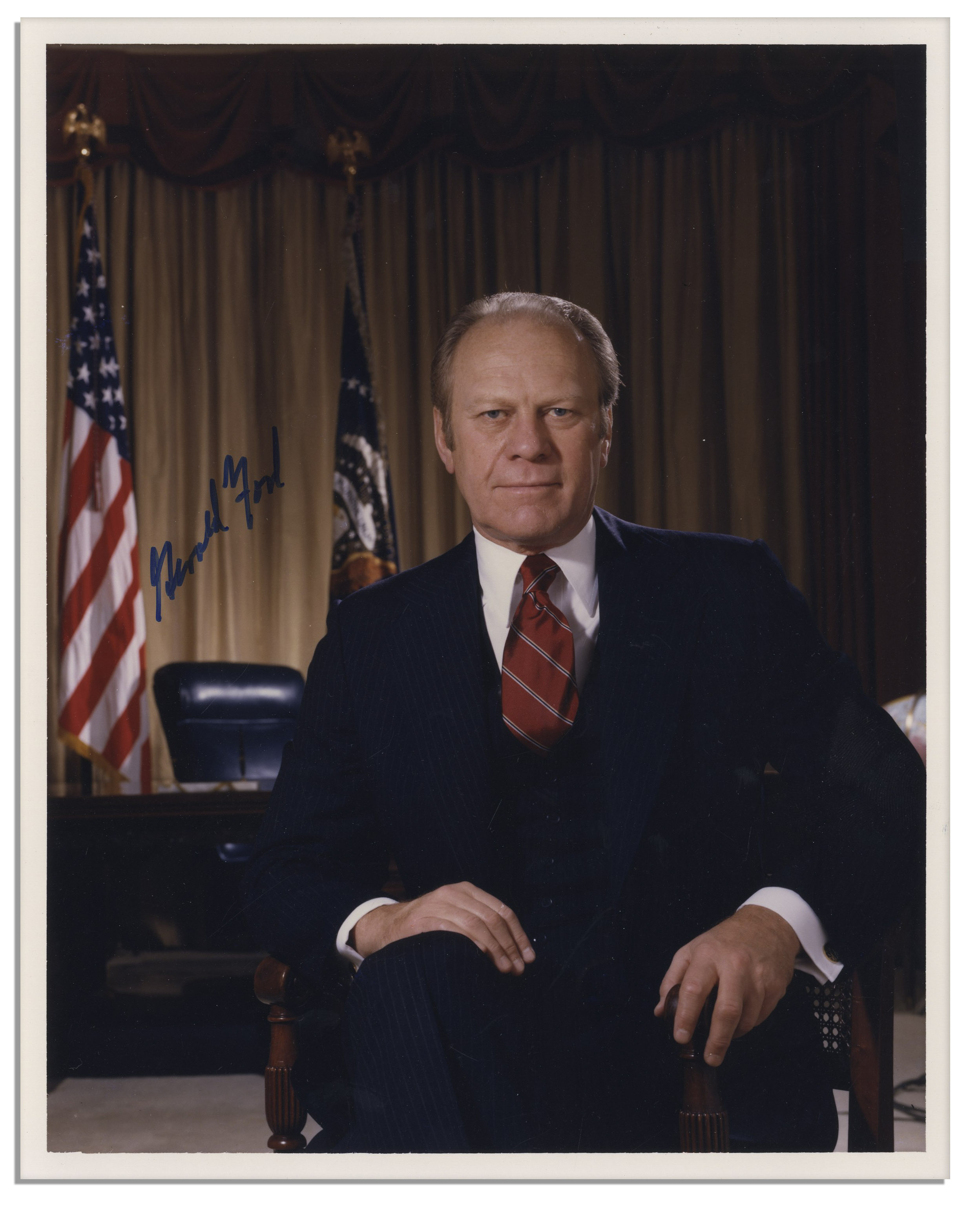 Lot Detail Gerald Ford 8 X 10 Photo Signed Amp Typed