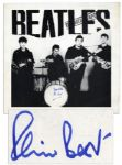 Beatles Poster Signed by Original Drummer, Pete Best -- Who Was Replaced by Ringo Starr
