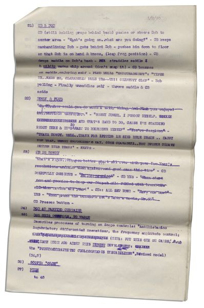Script From ''The Howdy Doody Show'' -- Episode #449 -- From the Bob Keeshan Estate
