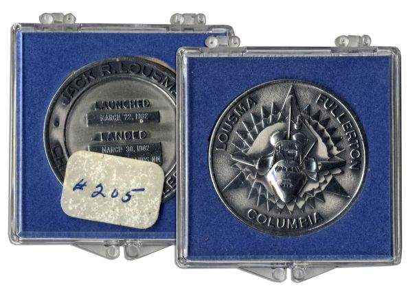Jack Swigert's Personally Owned STS-3 Robbins Medal Unflown, Serial Number 205