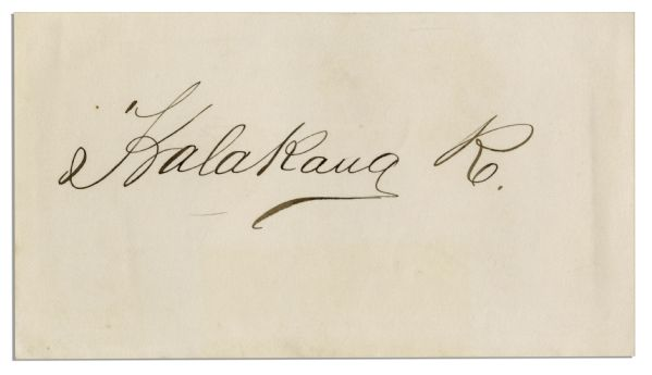 Signature of King Kalakaua, Hawaii's Last King