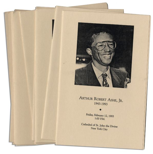 Lot of Programs From Arthur Ashe's Funeral