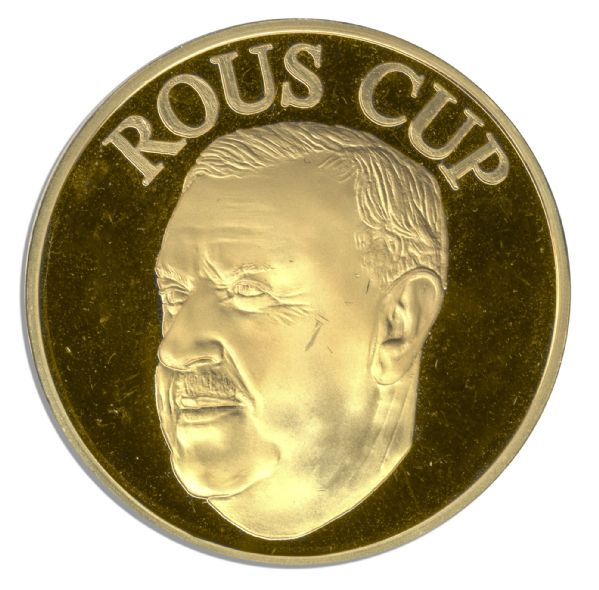 Rous Cup Gold Medal Won by Former Manchester United Footballer Neil Webb -- Won While Playing for England in Its Annual Clash With Scotland