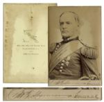 General William T. Sherman Cabinet Card Signed -- With PSA/DNA COA