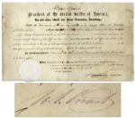 Ulysses S. Grant Signed Presidential Appointment