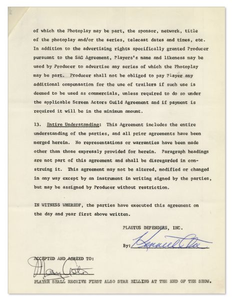 Mary Astor Contract Signed for Her Role on ''The Defenders''
