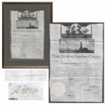 Thomas Jefferson Ships Paper Signed as President -- Countersigned by James Madison as Secretary of State -- Rare