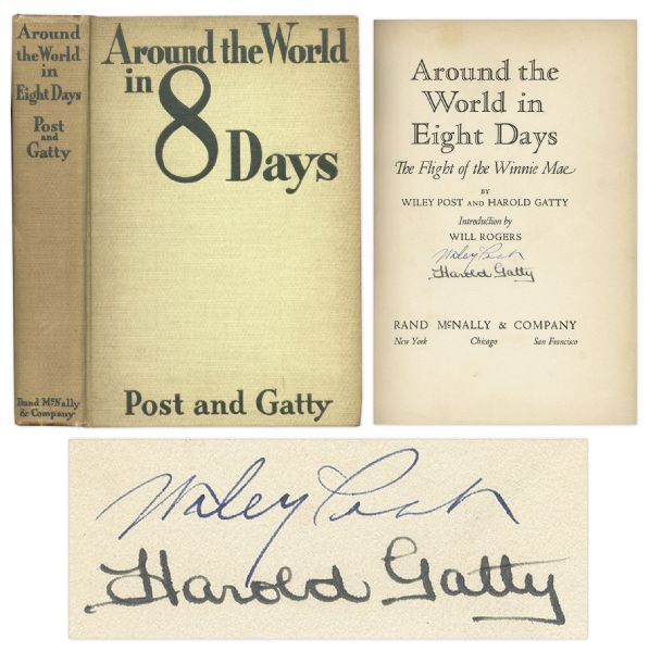 Wiley Post & Harold Gatty Signed First