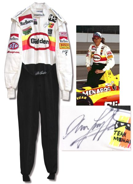Arie Luyendyk Racing Suit Worn & Signed -- Worn During the 1995 Indy Car Season