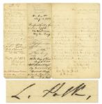 Civil War Furlough Request Signed by Several Confederate Generals & Officers -- Including Generals Leonidas Polk, Thomas C. Hindman, Braxton Bragg & Zacariah Deas