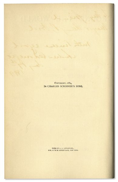 Andrew Carnegie Signed Copy of ''Round The World'' -- Dedicated to Henry P. Ford in 1899